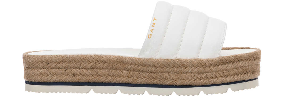 Gant Cape Coral Slippers White UK - GOOFASH