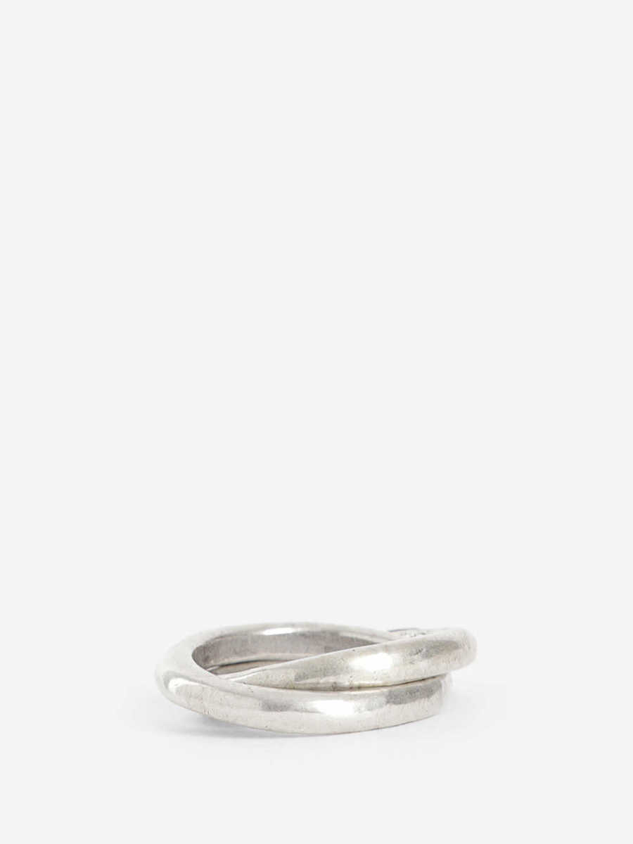 Goti Rings Silver USA - GOOFASH - Mens JEWELRY