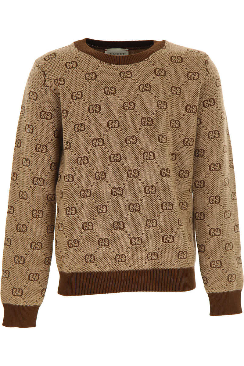 Gucci Kids Sweaters for Boys Camel SE - GOOFASH