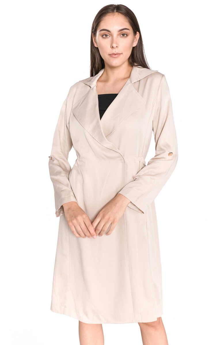 Guess Alessia Trench coat Beige UK - GOOFASH
