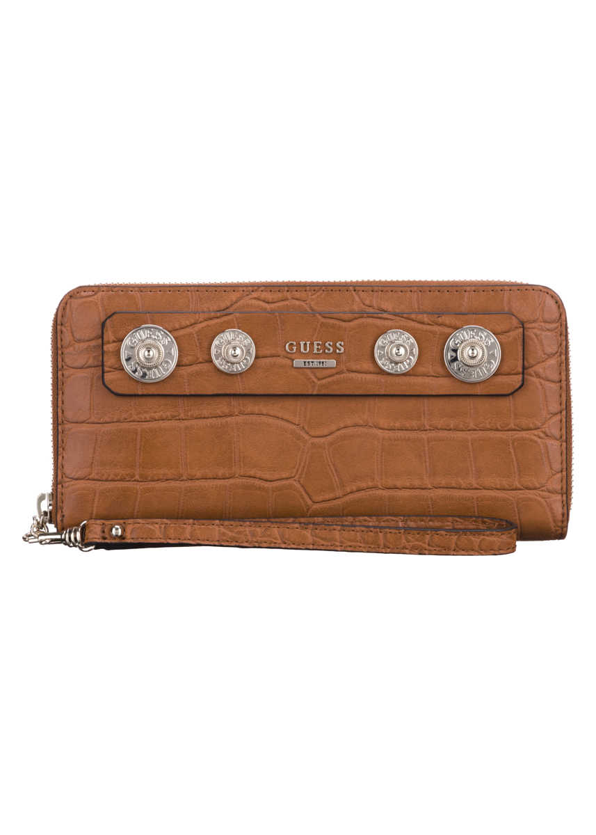 Guess Anne Marie Large Wallet Brown UK - GOOFASH