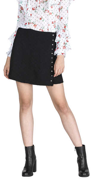 Guess Doreen Skirt Black UK - GOOFASH