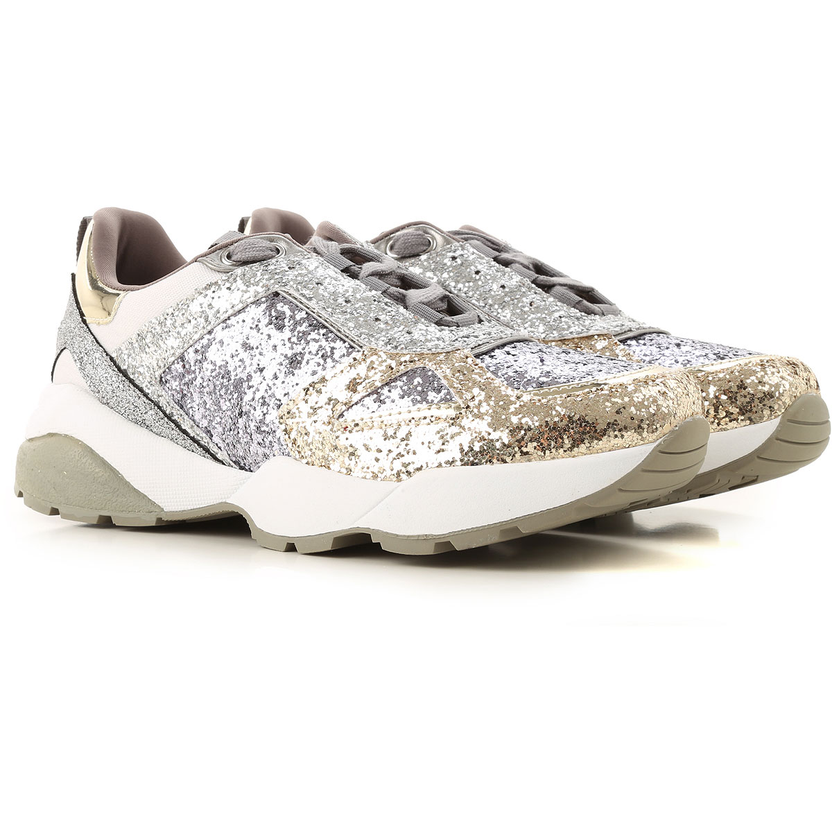 Guess Sneakers for Women Silver USA - GOOFASH