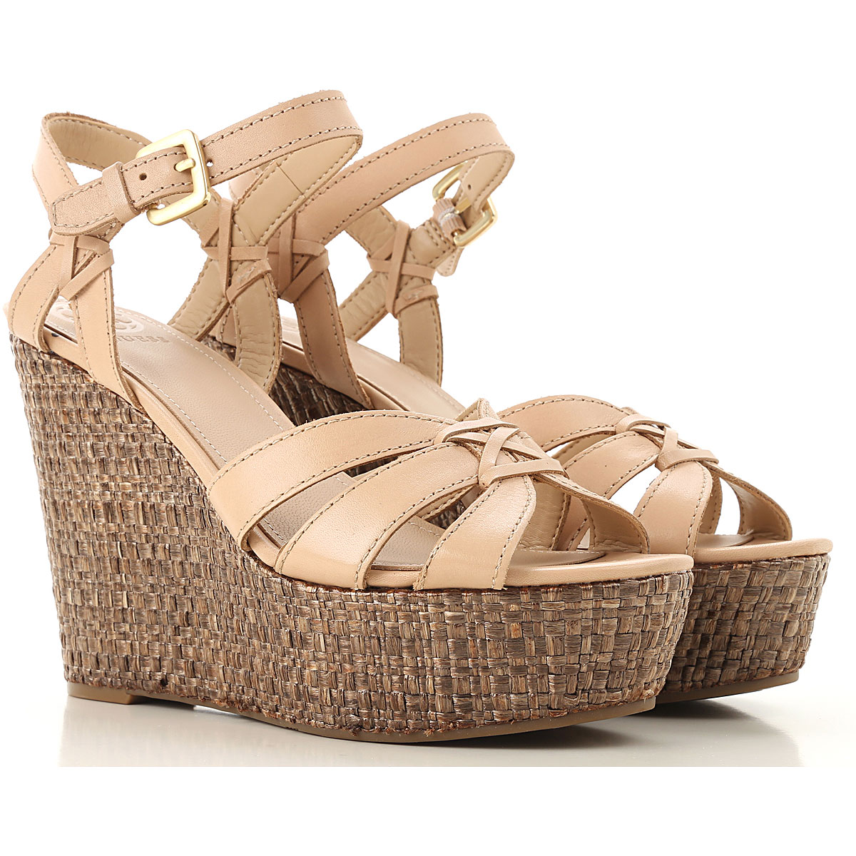 Guess Wedges for Women Beige USA - GOOFASH