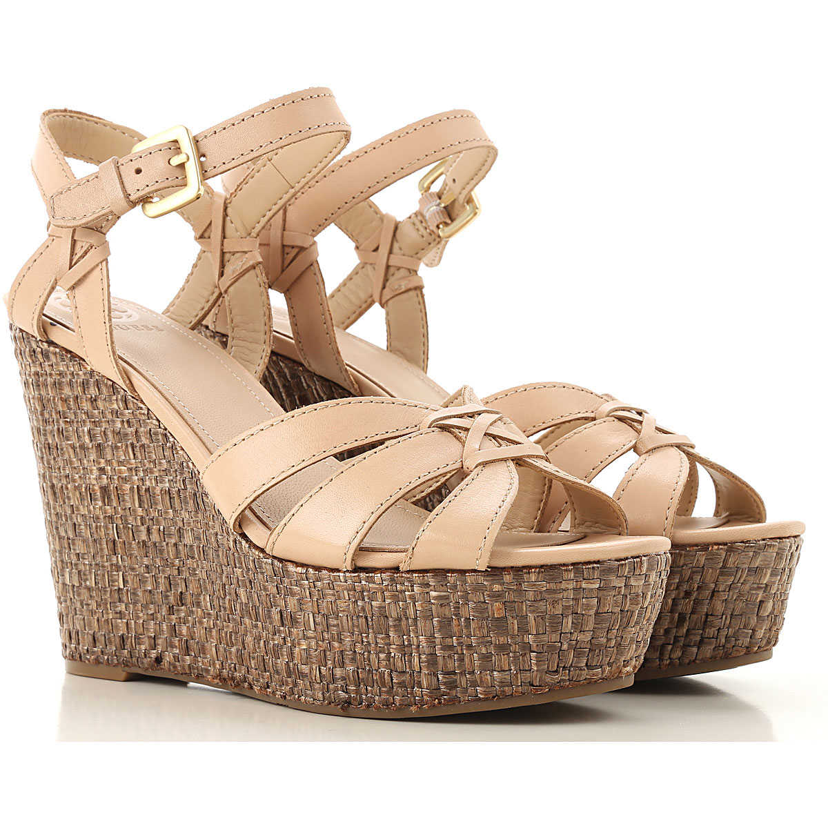 Guess Wedges for Women On Sale Beige SE - GOOFASH