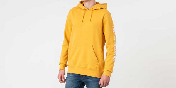 HUF Mission Hoodie Mineral Yellow UK - GOOFASH