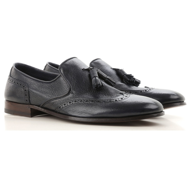 Henderson Loafers for Men Blue Ink USA - GOOFASH