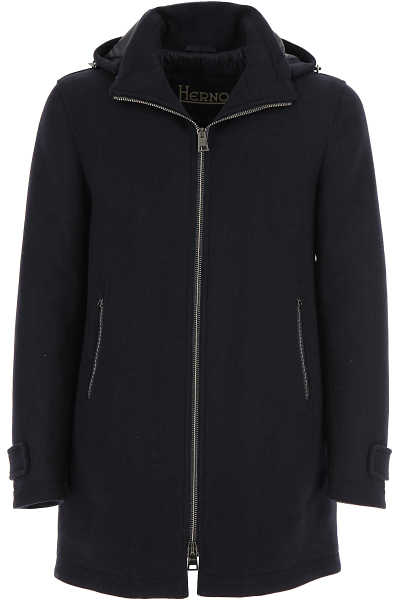 Herno Men's Coat Blue SE - GOOFASH
