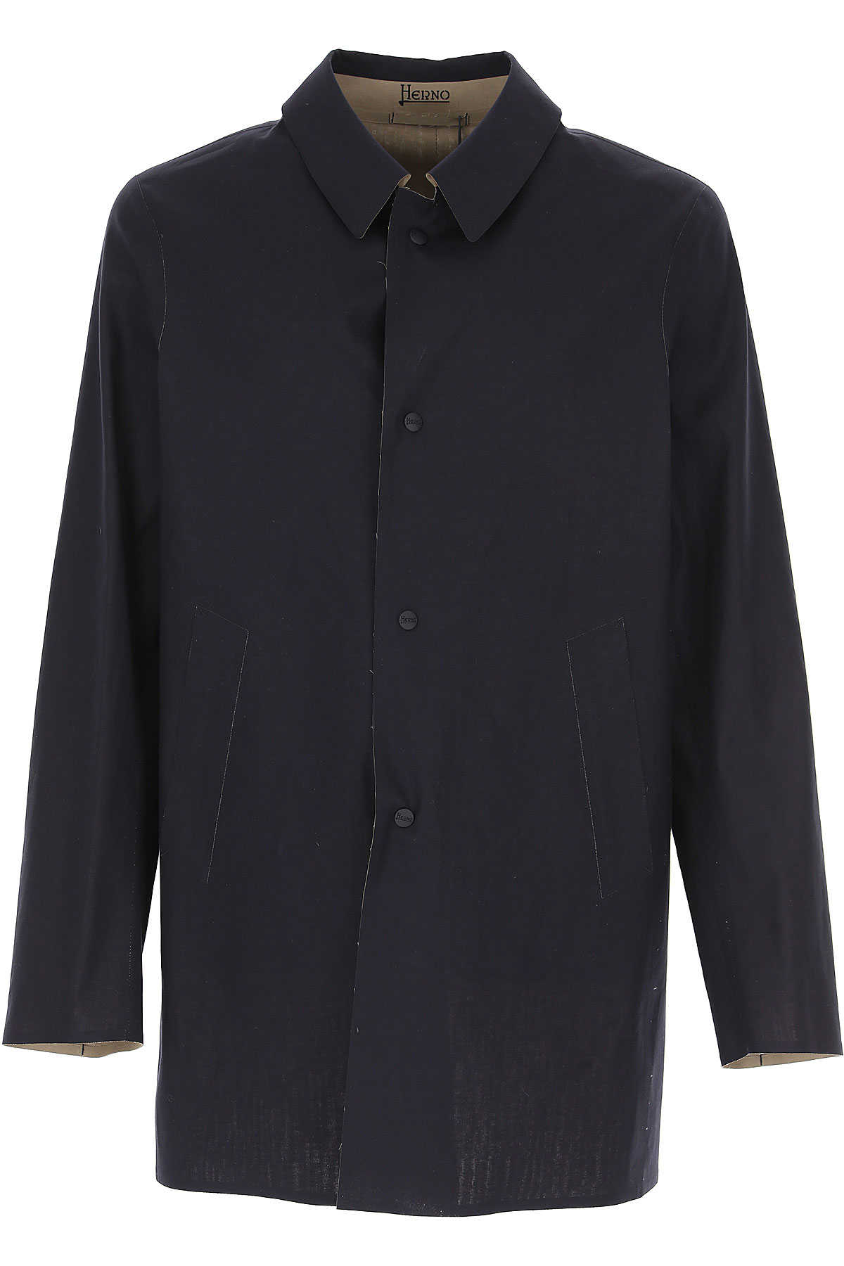 Herno Men's Coat navy USA - GOOFASH