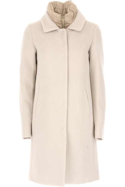 Herno Women's Coat Natural SE - GOOFASH