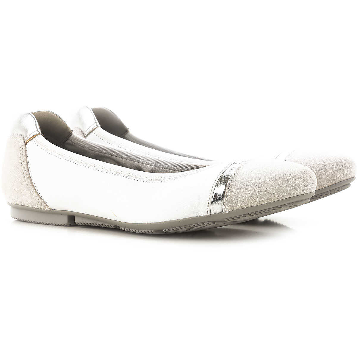 Hogan Ballet Flats Ballerina Shoes for Women On Sale in Outlet White SE - GOOFASH