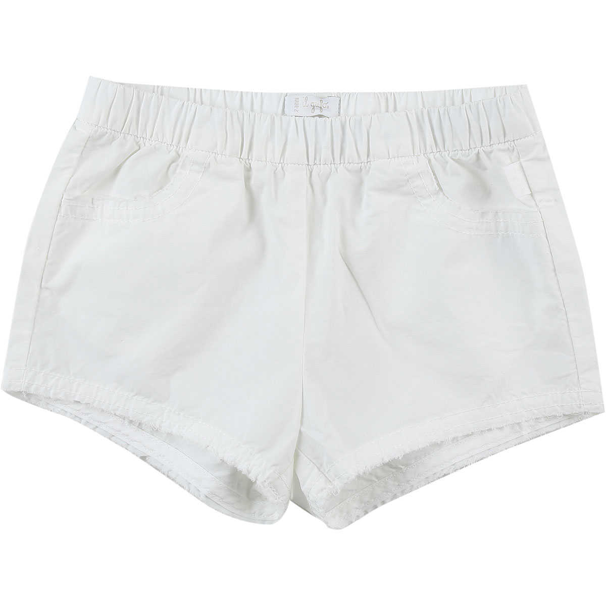 Il Gufo Baby Shorts for Girls On Sale in Outlet White SE - GOOFASH