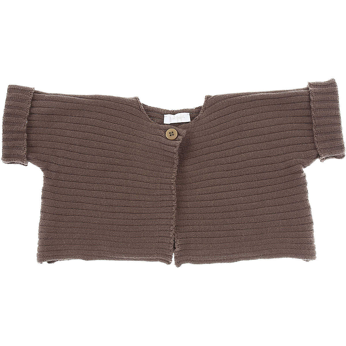 Il Gufo Baby Sweaters for Girls On Sale in Outlet Brown SE - GOOFASH