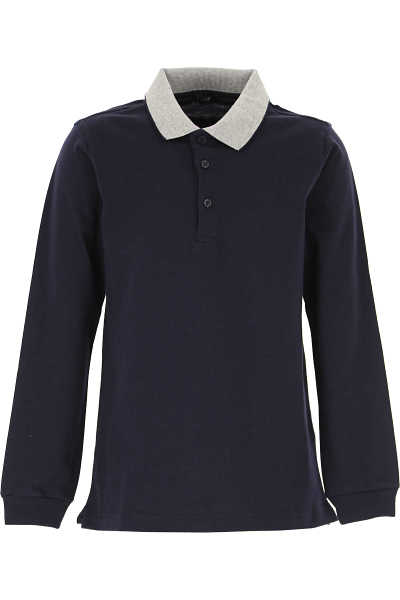 Il Gufo Kids Polo Shirt for Boys Blue Navy SE - GOOFASH