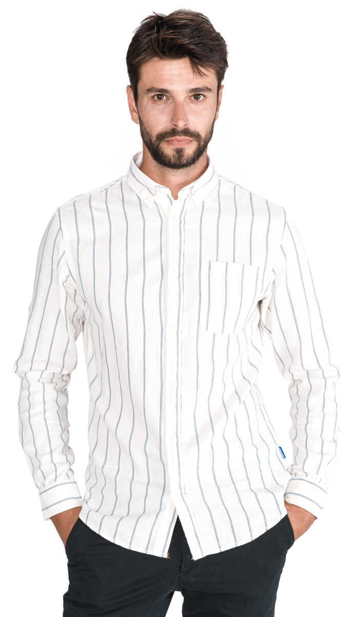 Jack & Jones Dean Shirt White UK - GOOFASH