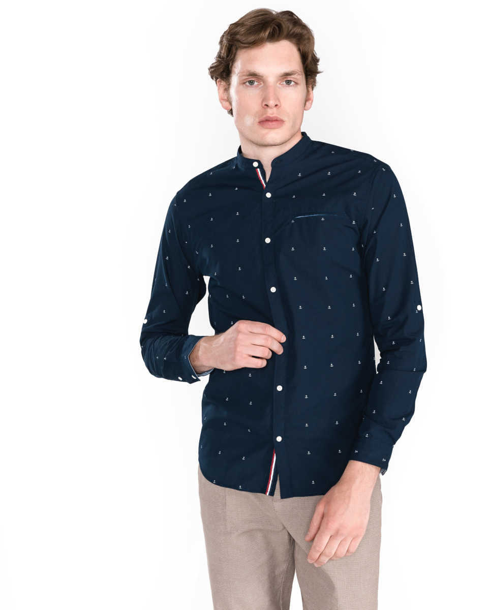Jack & Jones Sailor Shirt Blue UK - GOOFASH