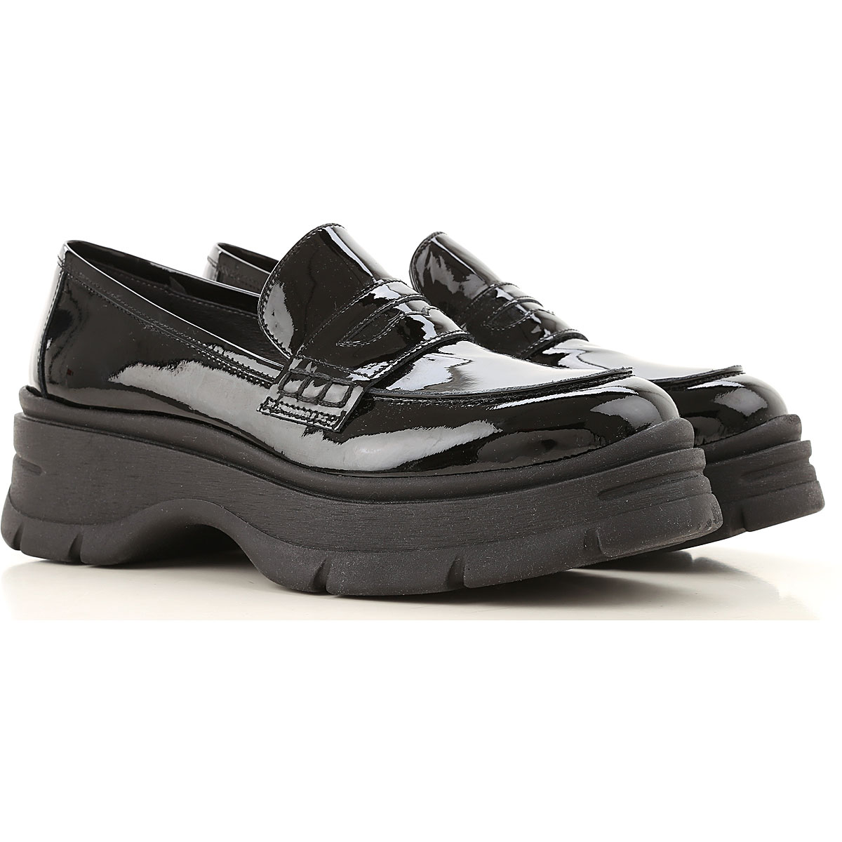 Janet & Janet Loafers for Women Black SE - GOOFASH