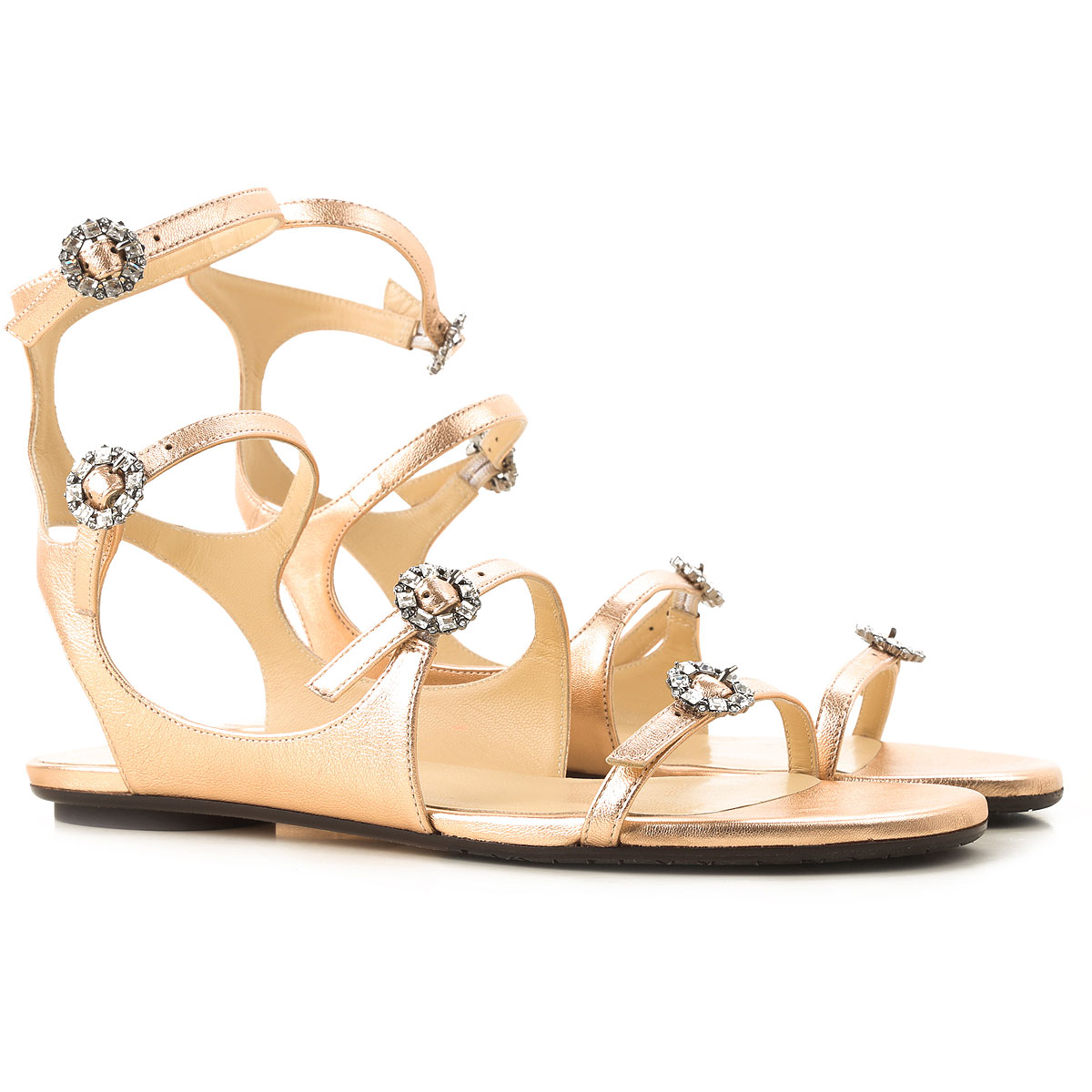 Jimmy Choo Sandals for Women in Outlet Tea Rose USA - GOOFASH