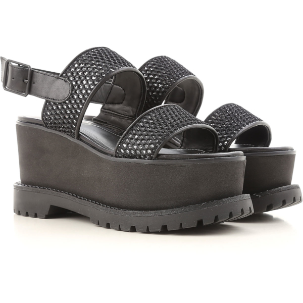 Kendall Kylie Wedges for Women in Outlet Black USA - GOOFASH