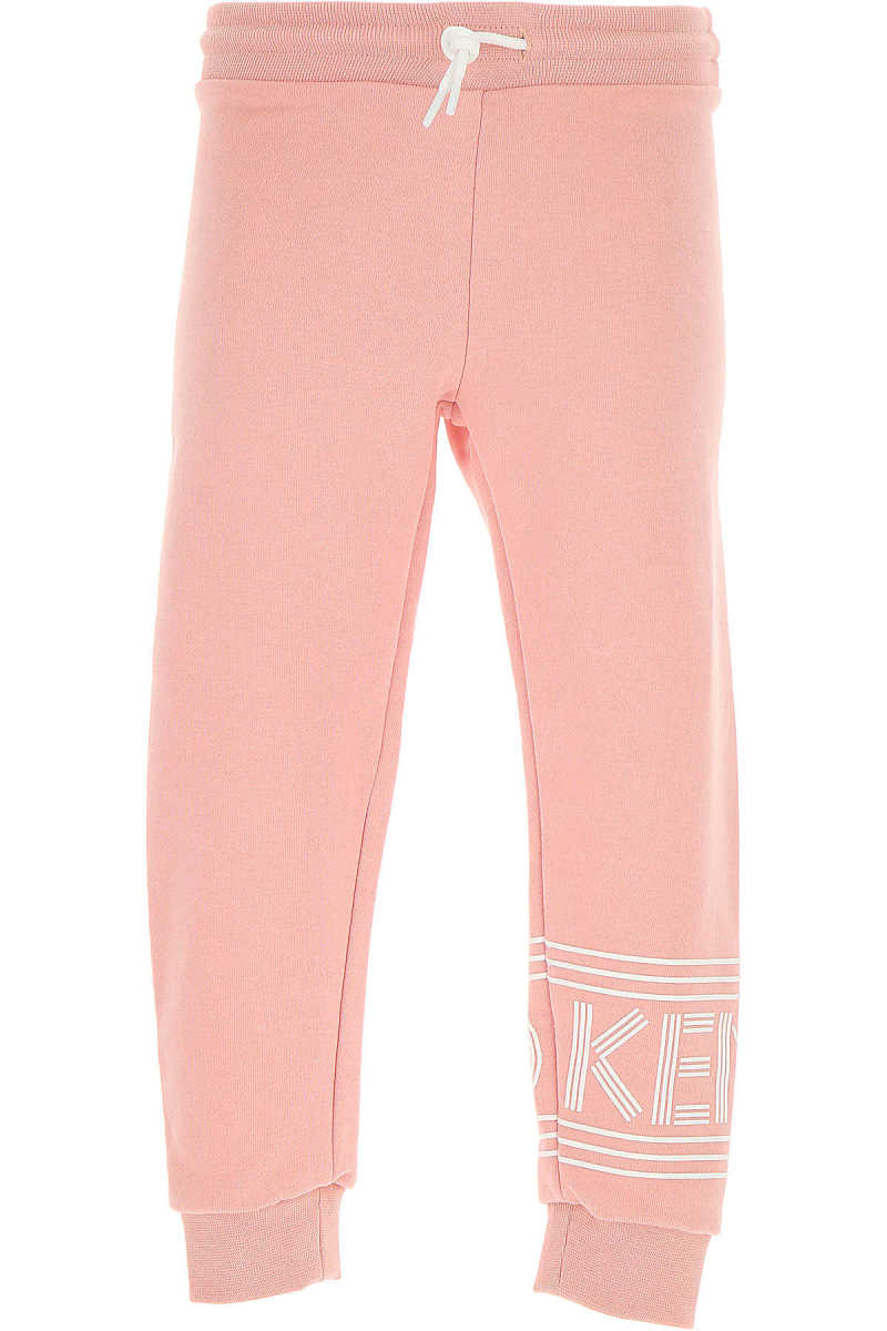 Kenzo Kids Sweatpants for Girls On Sale in Outlet Pink SE - GOOFASH