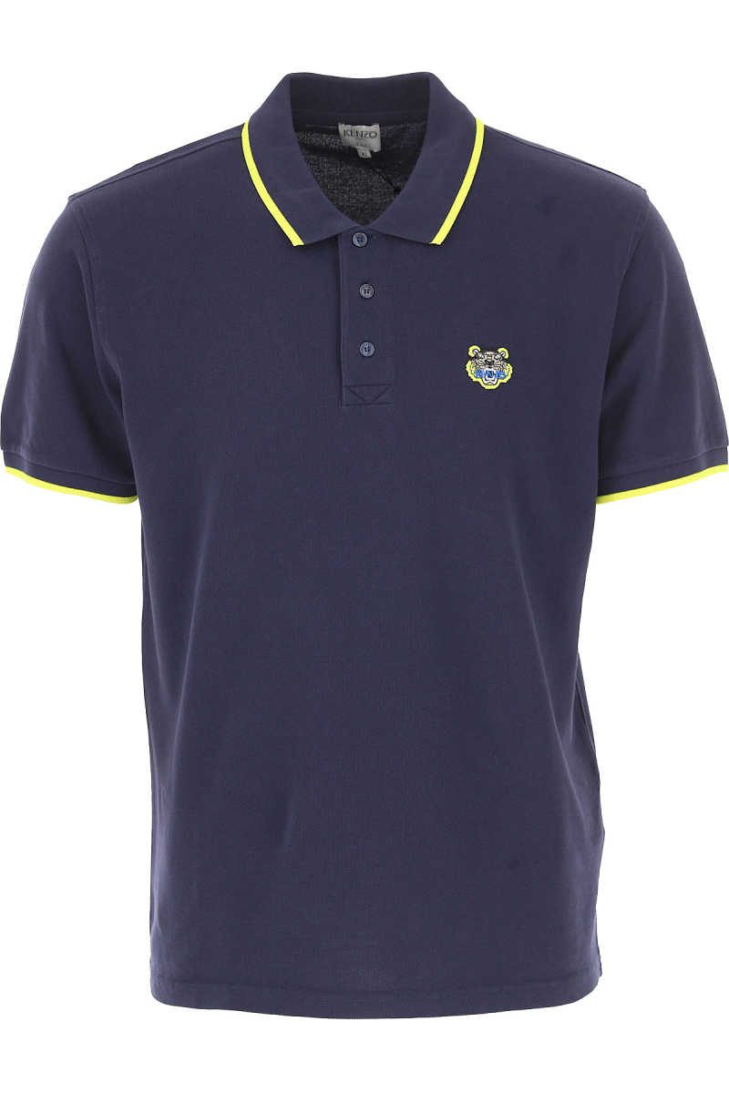 Kenzo Polo Shirt for Men Blue USA - GOOFASH