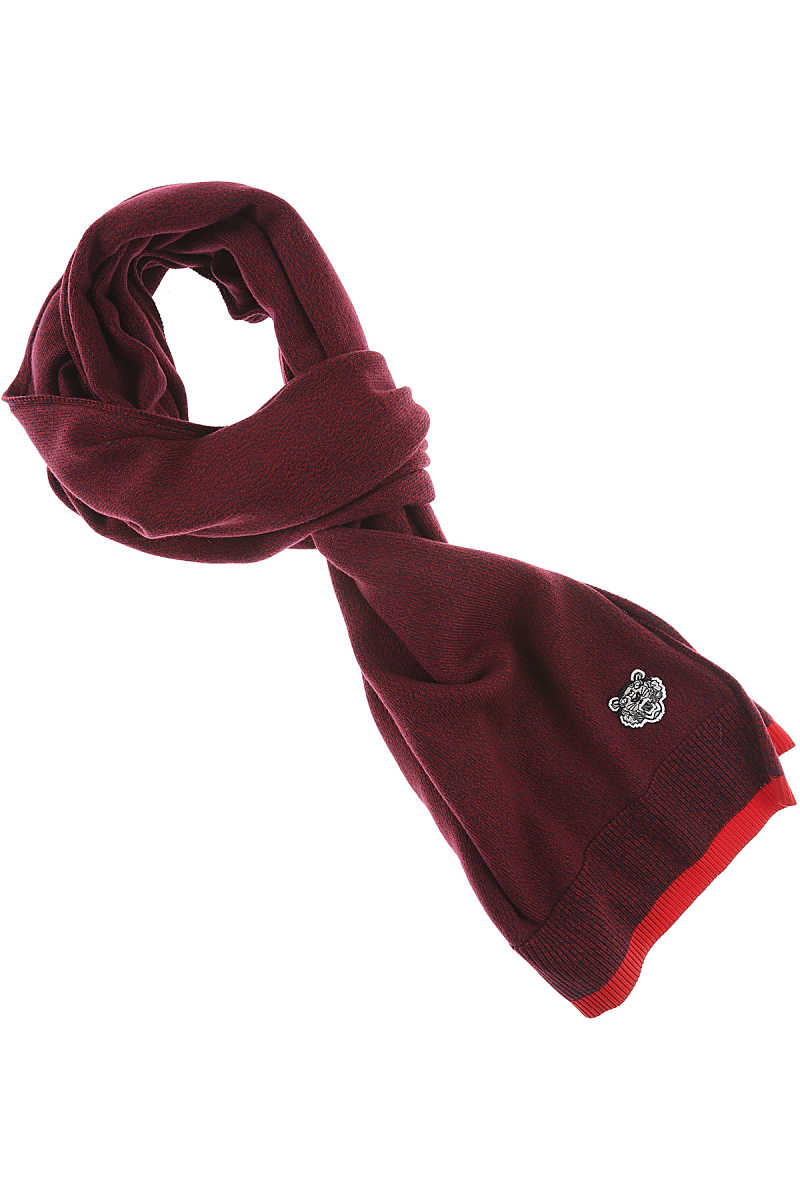 Kenzo Scarf for Men Bordeaux USA - GOOFASH