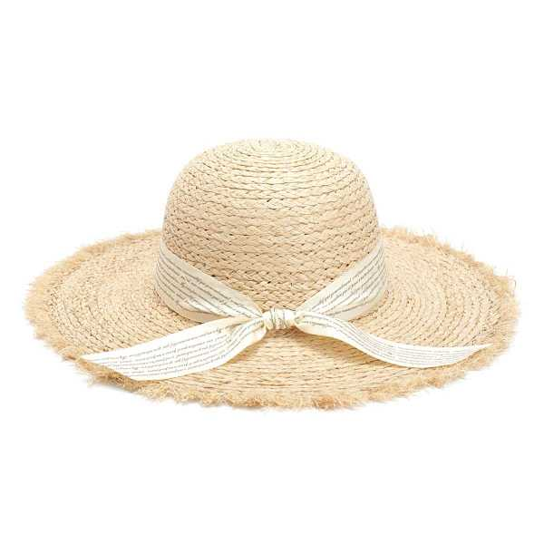 Knot Band Raw Trim Straw Hat in Beige by ROMWE on GOOFASH