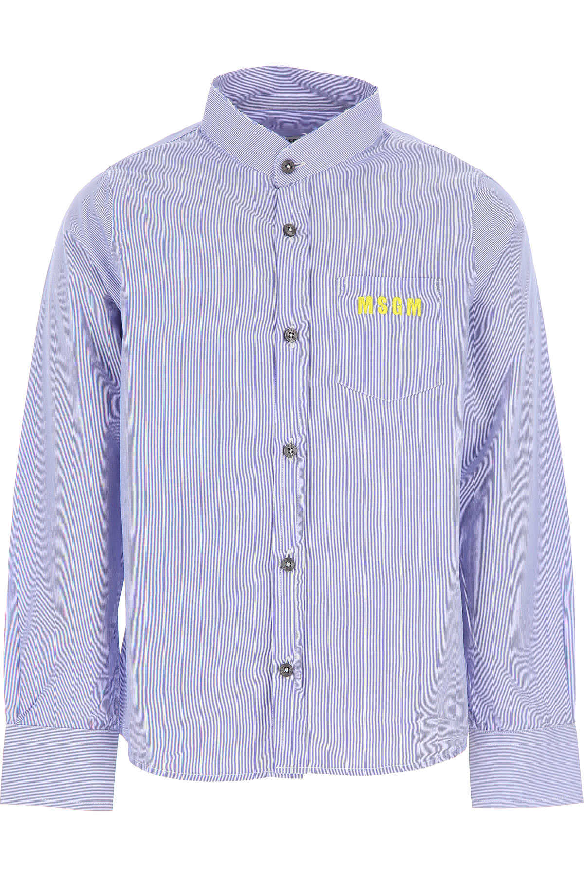 MSGM Kids Shirts for Boys On Sale in Outlet Blue SE - GOOFASH