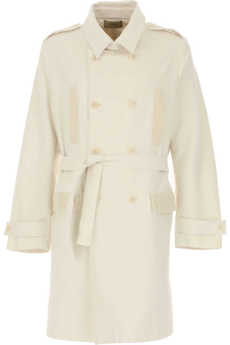Maison Flaneur Men's Coat Cream SE - GOOFASH