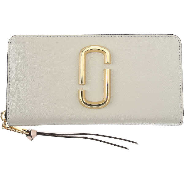 Marc Jacobs Wallet for Women On Sale Pearl Grey SE - GOOFASH