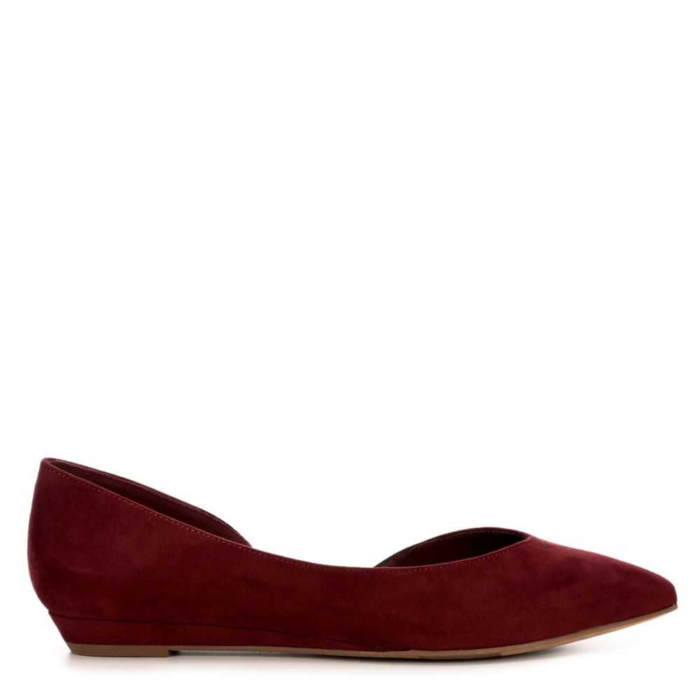 Michael By Shannon Womens Adaire Flats Shoes Burgundy USA - GOOFASH