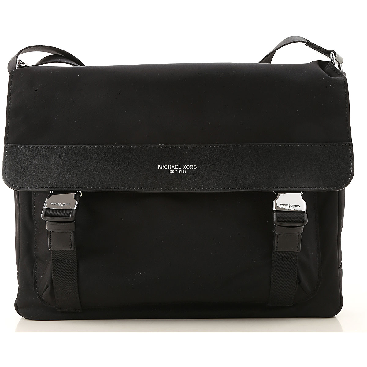 Michael Kors Messenger Bag for Men On Sale Black SE - GOOFASH