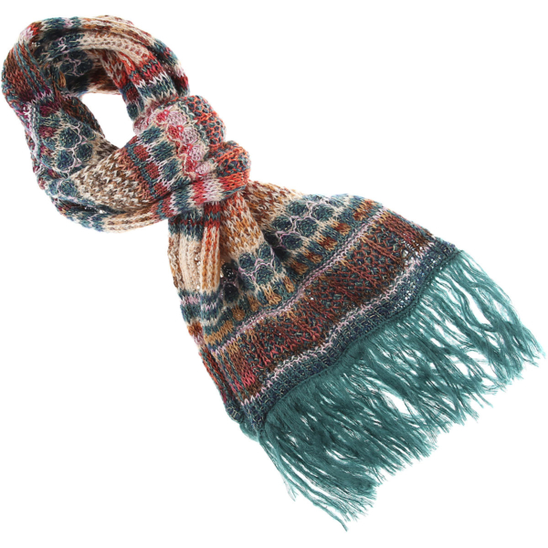 Missoni Scarf for Women Turquoise USA - GOOFASH