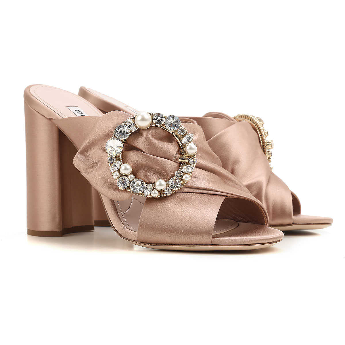 Miu Miu Sandals for Women On Sale in Outlet Nude SE - GOOFASH