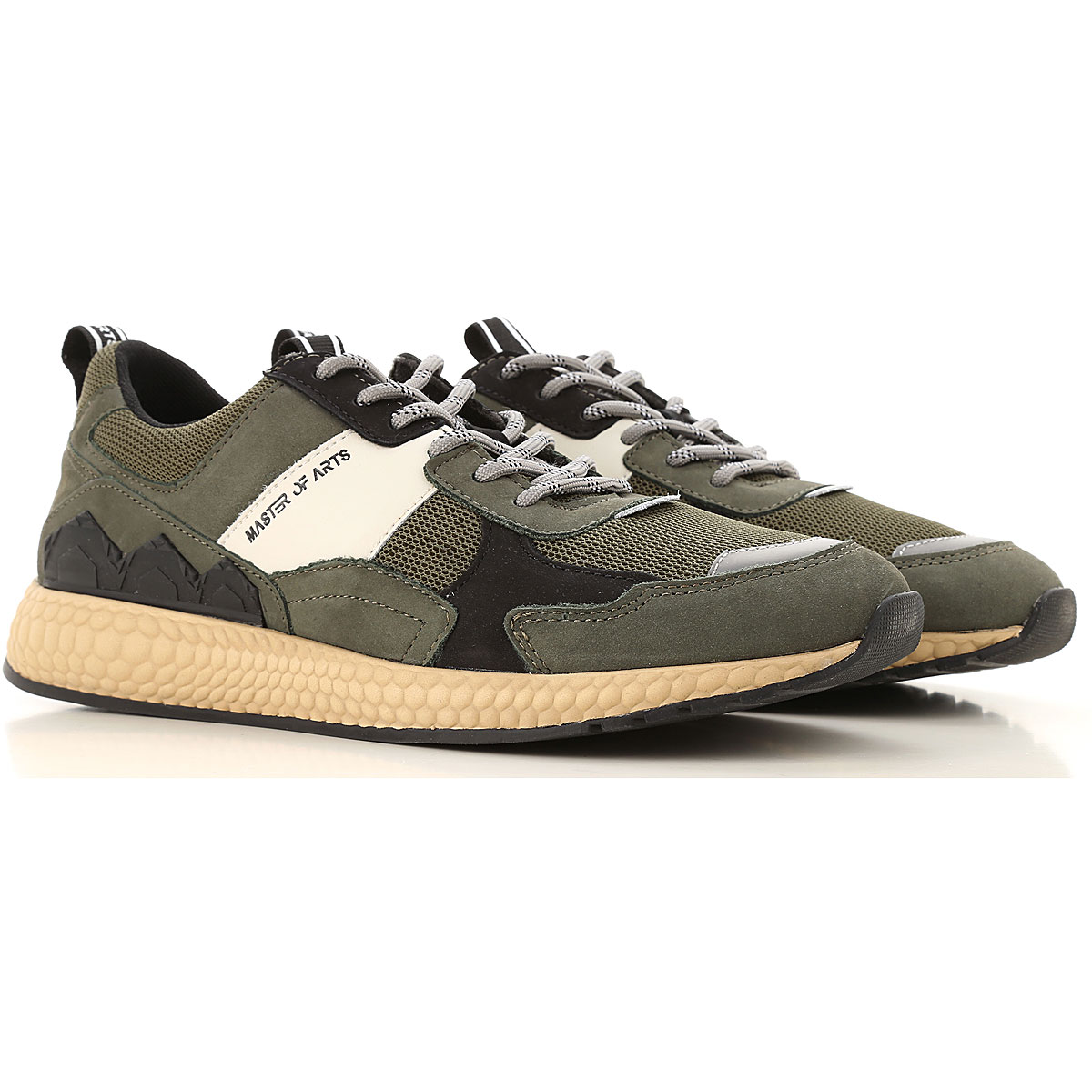 Moa Master of Arts Sneakers for Men Military Green USA - GOOFASH