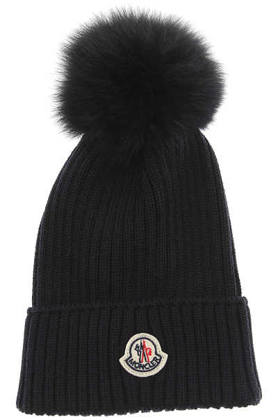 Moncler Kids Hats for Boys Midnight Blue USA - GOOFASH