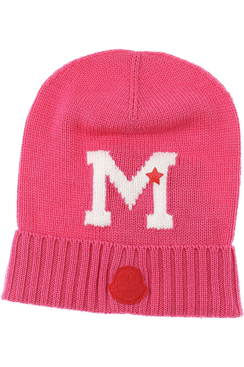 Moncler Kids Hats for Girls fucsia SE - GOOFASH