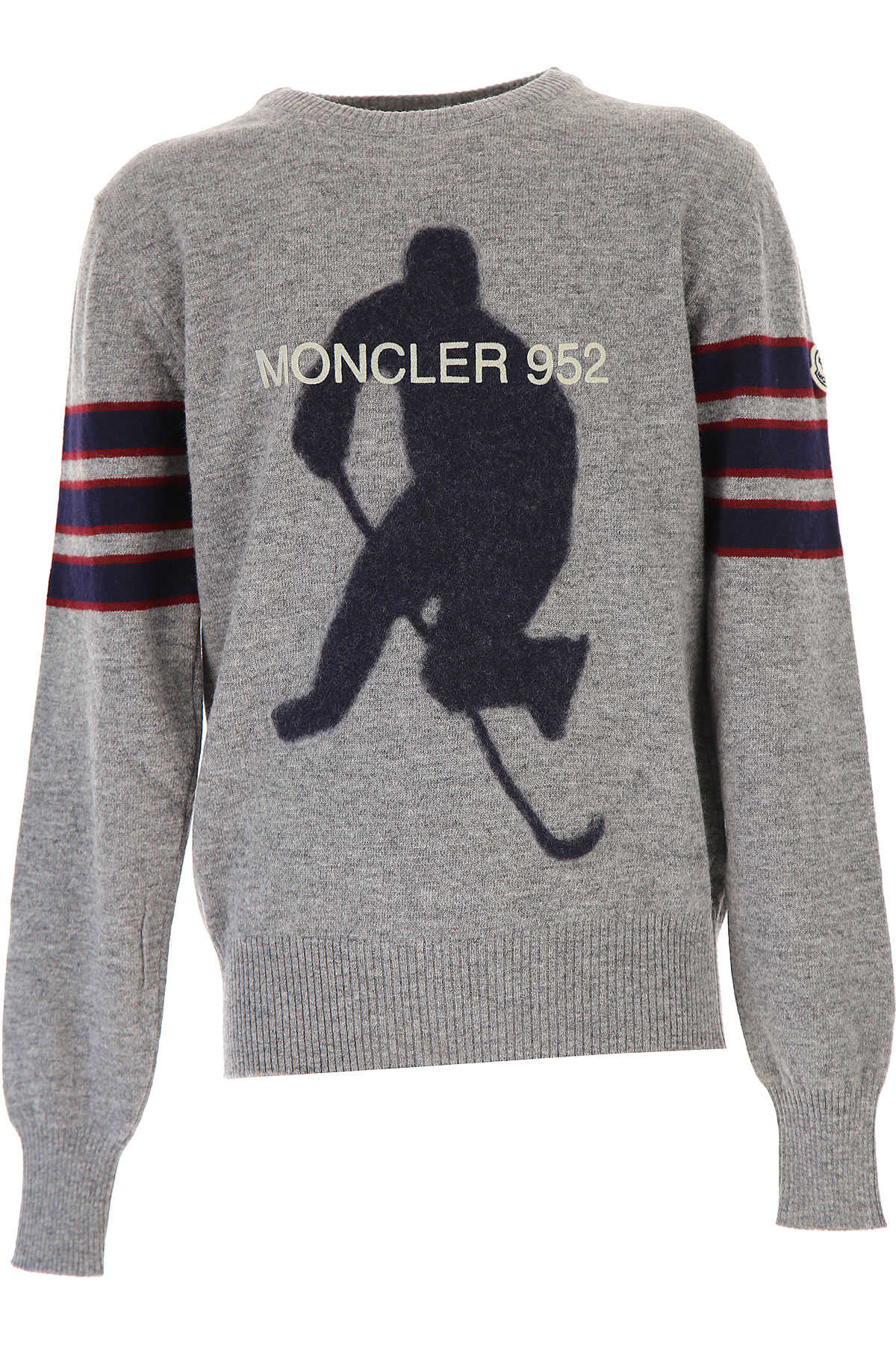 Moncler Kids Sweaters for Boys On Sale in Outlet Grey SE - GOOFASH
