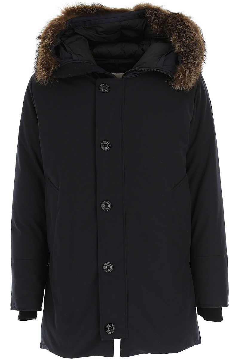 Moncler Men's Coat Midnight Blue USA - GOOFASH