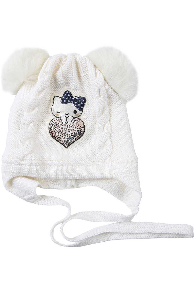 Monnalisa Baby Hats for Girls Cream USA - GOOFASH