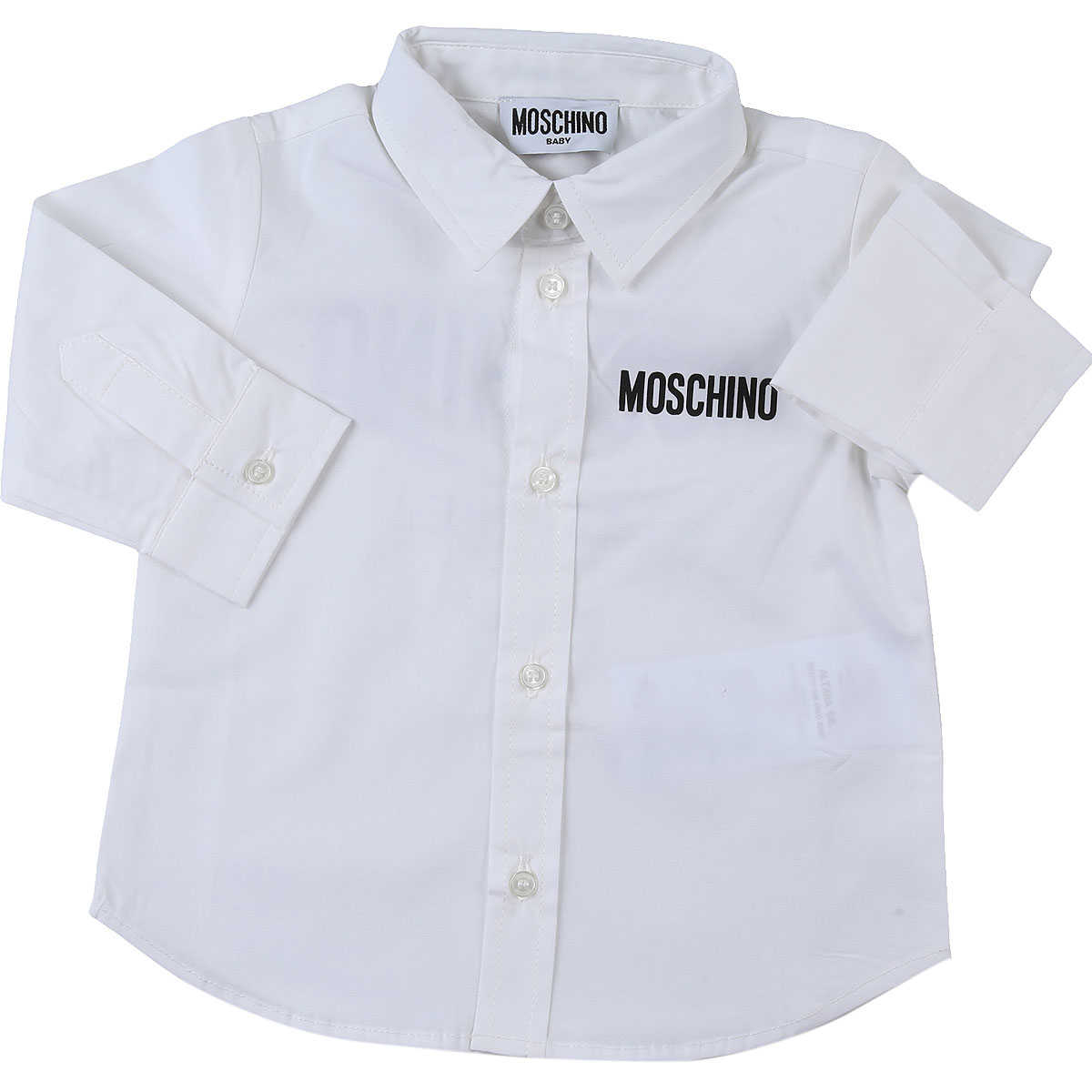 Moschino Baby Shirts for Boys White USA - GOOFASH