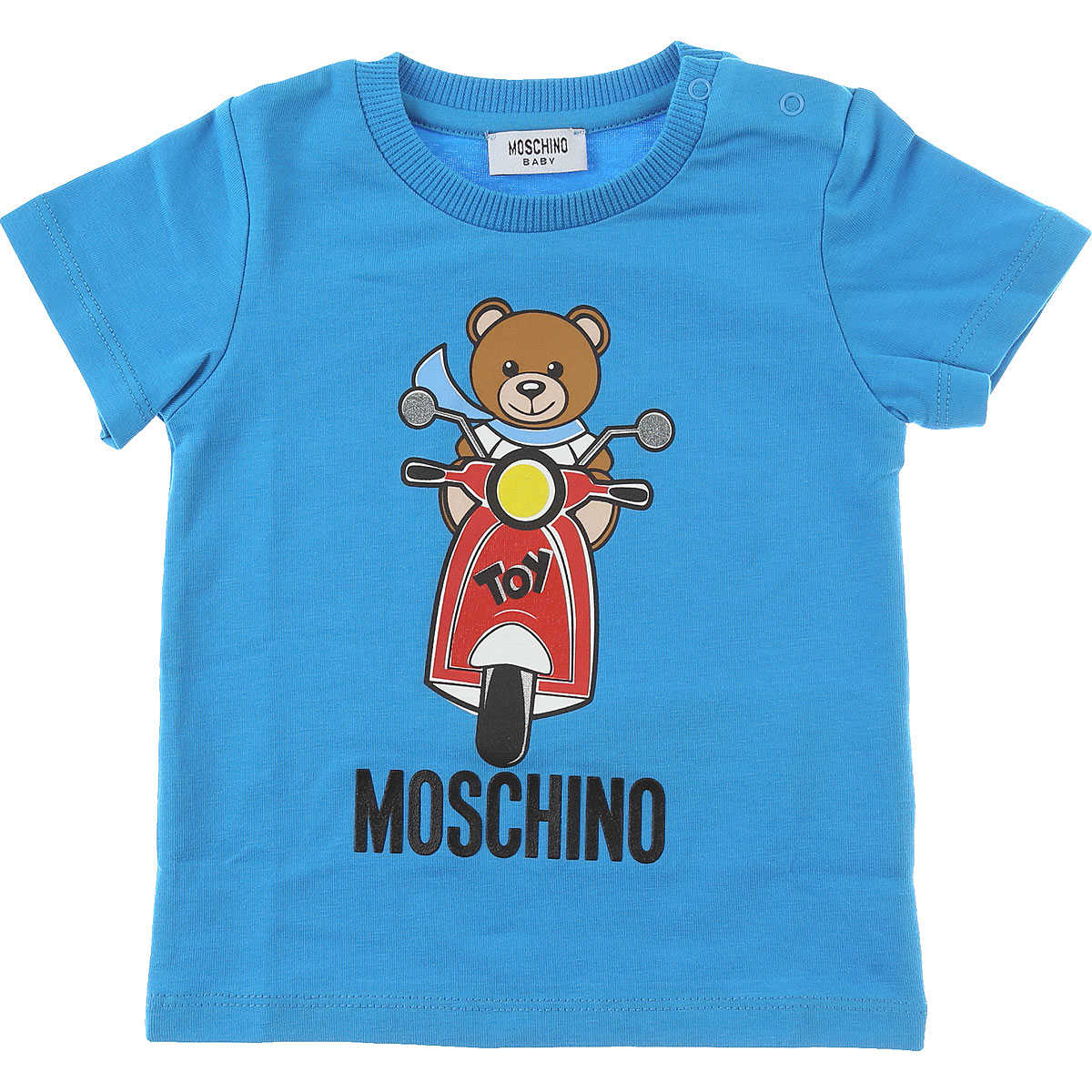 Moschino Baby T-Shirt for Boys On Sale Sky Blue SE - GOOFASH
