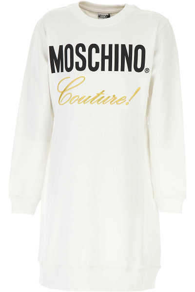Moschino Girls Dress White SE - GOOFASH