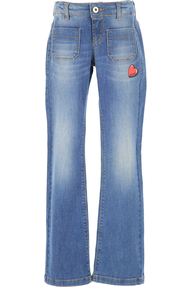 Moschino Kids Jeans for Girls On Sale in Outlet Denim Blue SE - GOOFASH