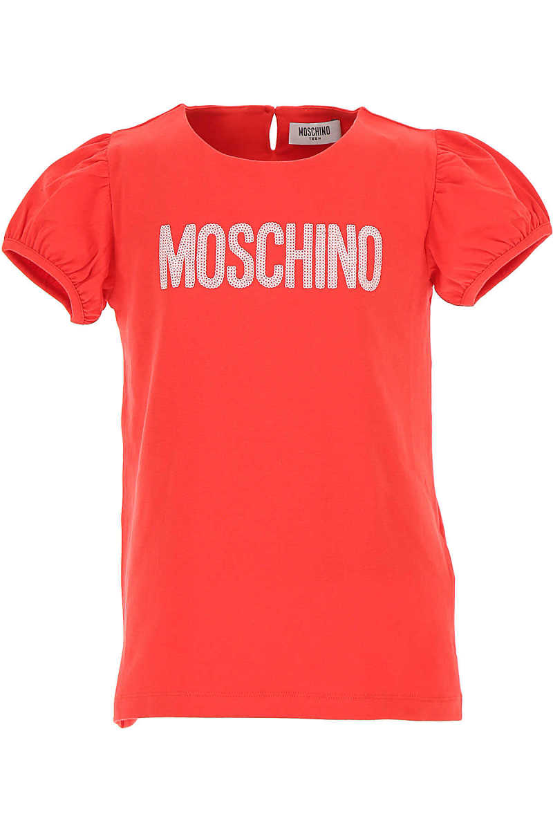 Moschino Kids T-Shirt for Girls On Sale Red SE - GOOFASH