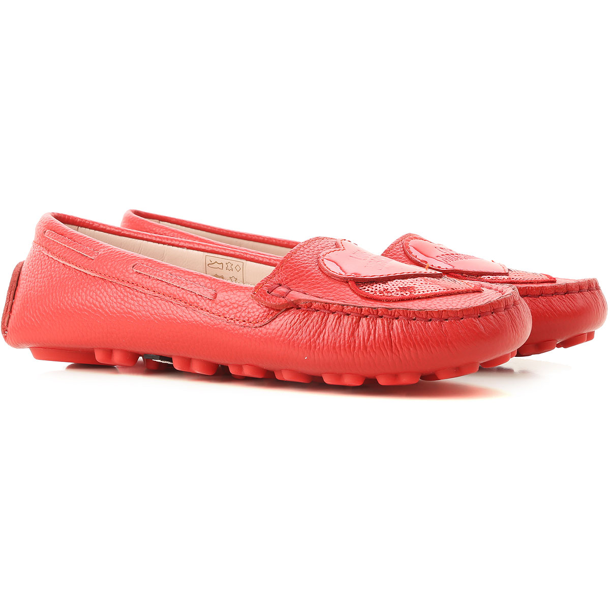 Moschino Loafers for Women Red USA - GOOFASH