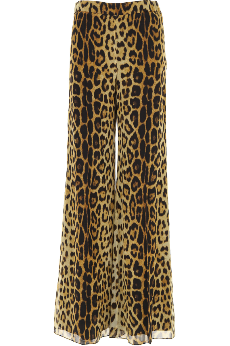 Moschino Pants for Women On Sale Leopard SE - GOOFASH