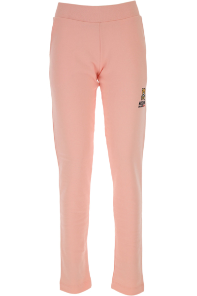 Moschino Pants for Women Pink SE - GOOFASH