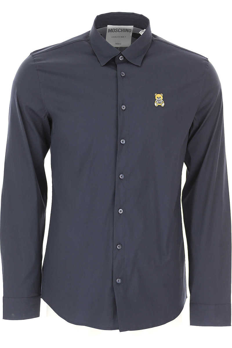 Moschino Shirt for Men On Sale Blue SE - GOOFASH