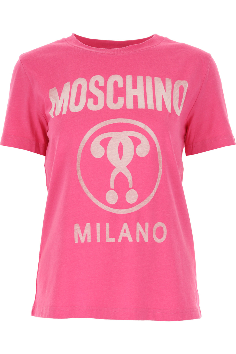 Moschino T-Shirt for Women On Sale Pink SE - GOOFASH